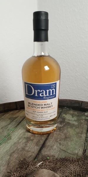 C & S Dram Regional Highland Blended Malt Schotch Whisky 17 y.o.