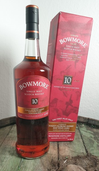 """Bowmore 10 y.o. """"Inspired by Devil's Cask"""" 1 Liter"""