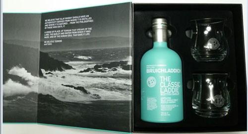 Bruichladdich The Classic Laddie Scottish Barley +2 Gläser