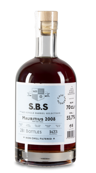 1423 S.B.S Mauritius 2008, Grays, Port Cask Finish